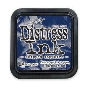 Distress Ink Pad - Poduszka z tuszem - Ranger - Chipped Sapphire