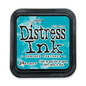 Distress Ink Pad - Poduszka z tuszem - Ranger - Peacock Feathers