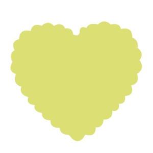 Dziurkacz ozdobny 7,5 cm 331 - Serce z falbanką