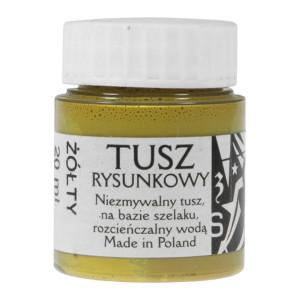 Tusz rysunkowy Renesans 20 ml żółty