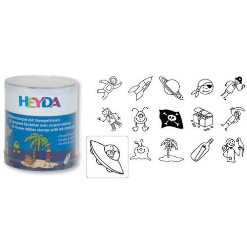 Zestaw stempli Heyda - Piraci 15 szt.