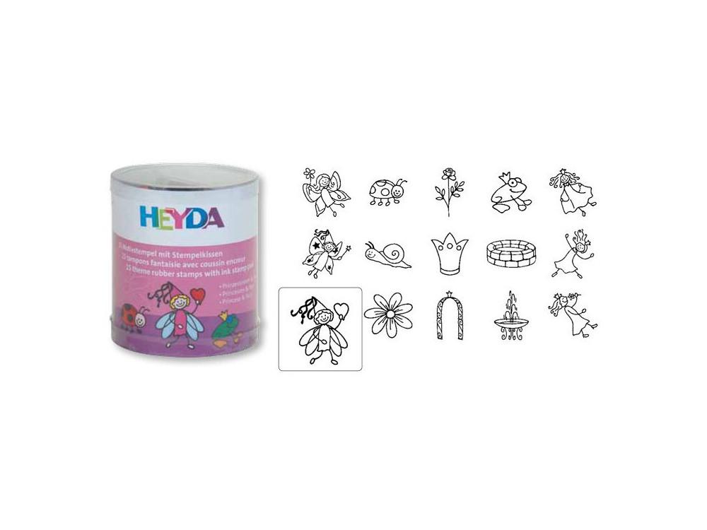 Set of Stamps Heyda - Princess 15 pcs