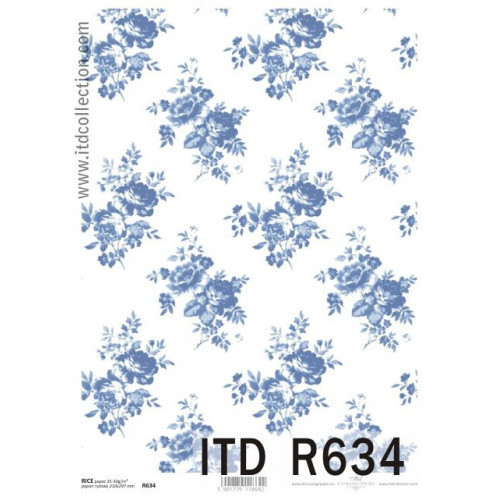 Papier ryżowy decoupage ITD R634
