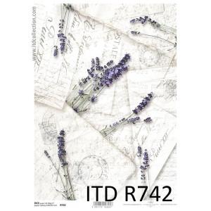 Papier ryżowy decoupage A4 R742