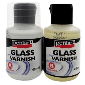 Lakier szklący 1:1 2-składnikowy 2x40 ml Pentart