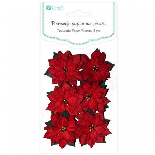 Poinsettia paper flowers 6 pcs mightylinksfo