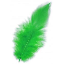 Piórka dekoracyjne, ozdobne - zielone, 190 szt.