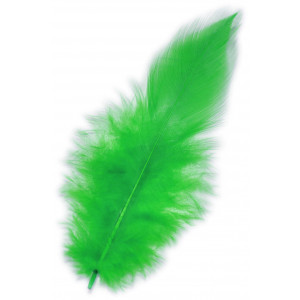 Piórka dekoracyjne ok. 190 szt. zielone