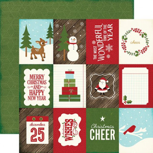 Papier Echo Park - The Story of Christmas - 3x4 Journaling Cards Paper