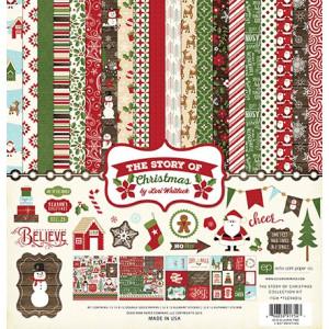 Zestaw papierów i naklejek Echo Park - The Story of Christmas