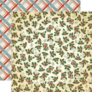 Papier Carta Bella - Holly and Mistletoe