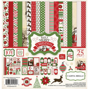 Zestaw papierów i naklejek Carta Bella - Have a Merry Christmas
