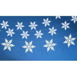 Girlanda dekoracja śnieżynki perłowe 1,55 m
