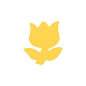 Dziurkacz ozdobny 3,7 cm 037 - Tulipan