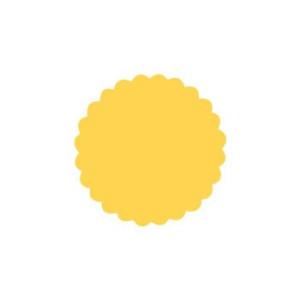Dziurkacz ozdobny 3,7 cm 109 - Koło falbanka