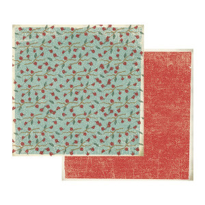 Papier Stamperia - Ostrokrzew mały / Śnieżek czerwony