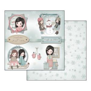 Papier Stamperia - Emma i Kamila w zimie