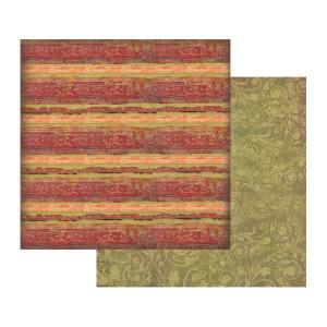 Papier Stamperia - Tekstura czerwona z paskami