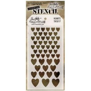 Szablon Ranger Tim Holtz Stencil - Hearts