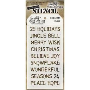 Szablon Ranger Tim Holtz Stencil - Holiday Knit Layered