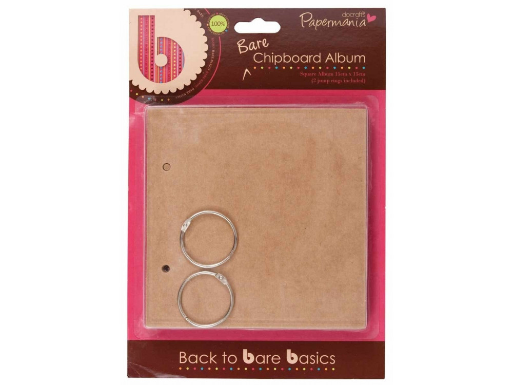 15x15 Chipboard Album - Papermania - Square (6 sheets)