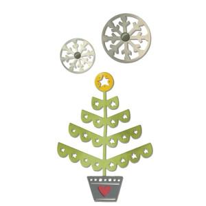 ZESTAW WYKROJNIKÓW - THINLITS - CHRISTMAS TREE & SNOWFLAKES BY DEBI POTTER, 3SZT.