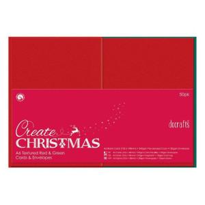 Zestaw czerwonych i zielonych kopert i kart Anita's A6 50 szt.
