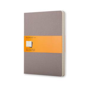 Zestaw 3 notatników Moleskine - Squared Warm Grey XL
