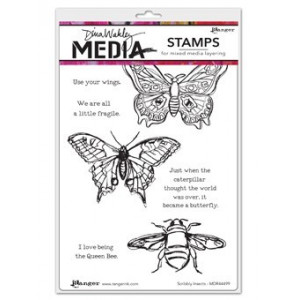 Stempel gumowy - Dina Media Stamps - Scribbly Insects
