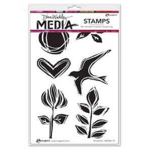 Stempel gumowy - Dina Media Stamps - Woodcuts