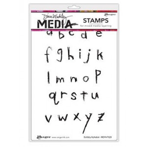 Stempel gumowy - Dina Media Stamps - Scribbly Alphabet