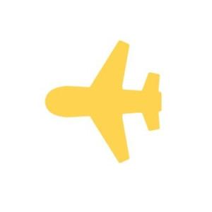 Dziurkacz ozdobny 2,5 cm 387 - Samolot
