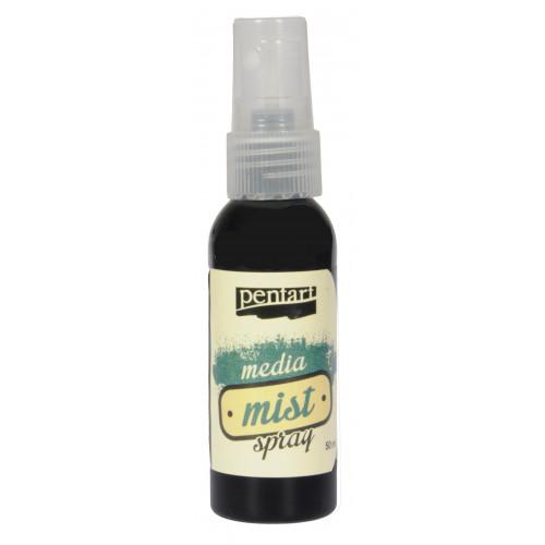 Media mist spray - Pentart - black