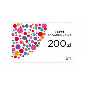 Karta podarunkowa PAPERCONCEPT 200 zł