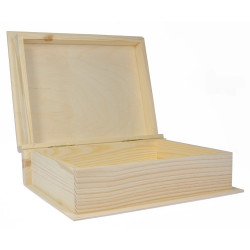 Oprawa drewniana na książkę - 19 x 24 x 7,5 cm