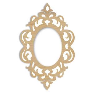 Drewniana dekoracja owal Zwierciadło 16 x 25 cm STAMPERIA