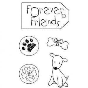HD Stamp - natural rubber 7 x 11 cm Forever Friends STAMPERIA