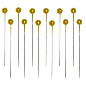 Szpilki dekoracyjne 40 mm ozdobne 144 szt. ŻÓŁTE