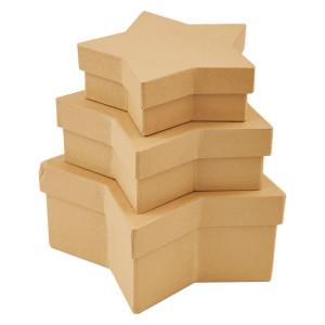 Pudełka tekturowe 3 szt. GWIAZDA Papermania