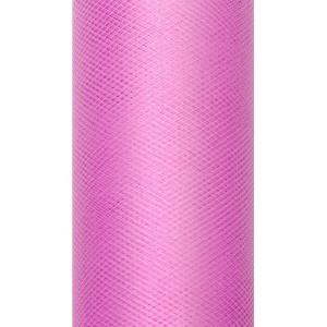 Tiul dekoracyjny 8 cm x 20 m różowy 006