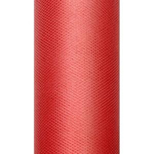 Tiul dekoracyjny 8 cm x 20 m czerwony 007