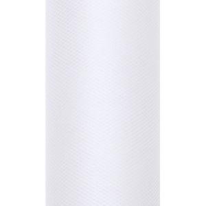 Tiul dekoracyjny 8 cm x 20 m biały 008