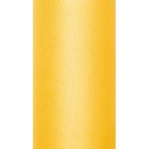 Tiul dekoracyjny 8 cm x 20 m żółty 009
