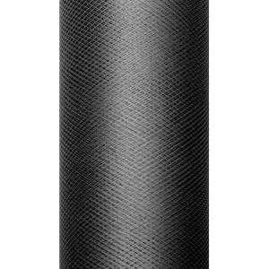Tiul dekoracyjny 8 cm x 20 m czarny 010