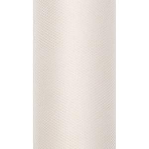 Tiul dekoracyjny 8 cm x 20 m kremowy 079