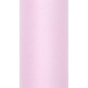 Tiul dekoracyjny 8 cm x 20 m j. różowy 081J