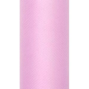 Tiul dekoracyjny 8 cm x 20 m j. róż 081