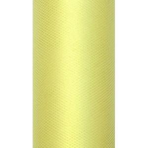 Tiul dekoracyjny 8 cm x 20 m j. żółty 084J