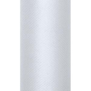 Tiul dekoracyjny 8 cm x 20 m j. szary 091J