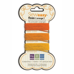 Nici do szycia 24 m We R - Sew Easy Floss - Orange